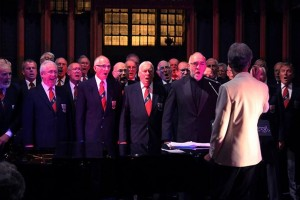 Dana de Waal sings with the Dalesmen Male Voice Choir